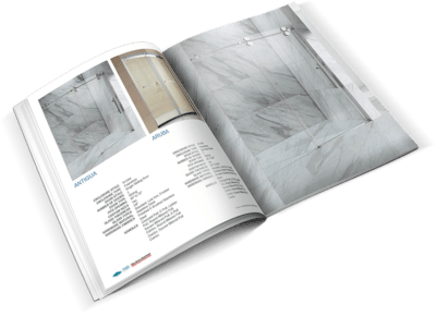 glass shower brochure