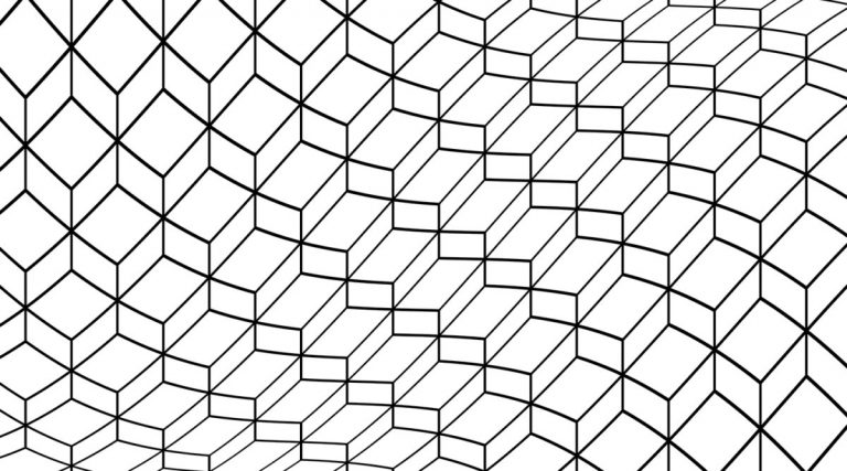 Block Waves Decorative Glass Pattern