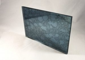 blue grey antique mirror pattern