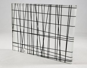 Cross-Lines Decorative Glass Pattern