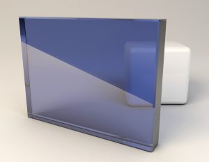 Daylight Blue Frost Laminated Glass Sample