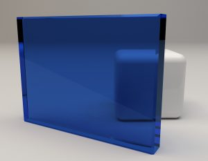 Decorlite CT Blue Laminated Glass Sample