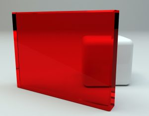 Decorlite glass Pale Red Laminated Glass Sample