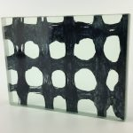 decorative laminated glass Etama Cobalt Weave