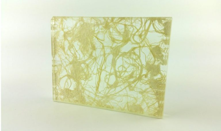 Etama Ivory Cotton decorative laminated glass