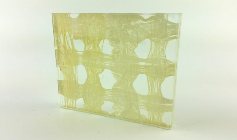 Etama Ivory Weave decorative laminated glass