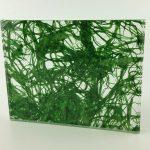 Etama Sea Green Cotton decorative laminated glass