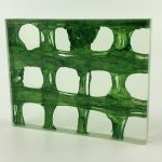 Etama Sea Green Weave decorative laminated glass