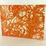 Etama Tangerine Cotton Laminated Glass Pattern