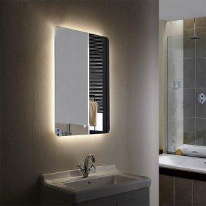LED Lit Mirror inside bathroom