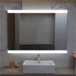 Lit Mirror inside bathroom