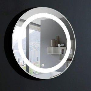 Round Lit Mirror