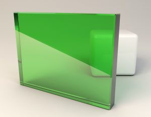 Fern Green Laminated Glass Sample