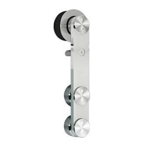 Flat Bar Glass Barn Door Mount