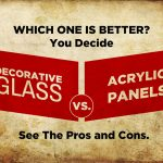 decorative glass vs. acrylic panels banner image