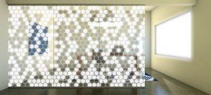 Decorative Glass Hex-Cheese-Scene
