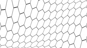Hex Wave Decorative Glass Pattern