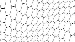 Hex Wave Decorative Glass Pattern