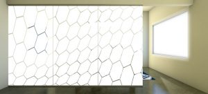 Decorative Glass Hex-Wave-Scene