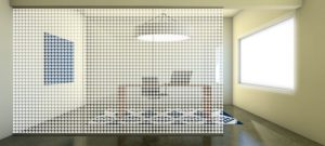 Decorative Glass Houndstooth-Scene