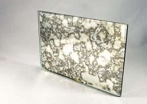 intense white antique mirror pattern