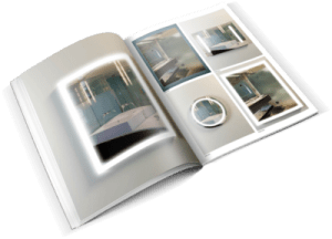 Lighted mirror brochure