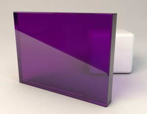 Medium Purple Laminated Glass Sample