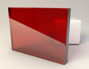 Medium Red Laminated Glass Sample