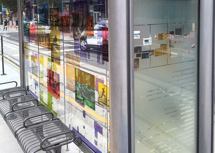 Charlotte CityLynx custom printed laminated glass