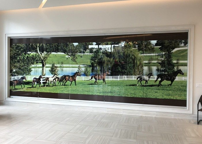 City Center custom printed glass panels