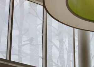 Chick-Fil-A Headquarters etched glass windows