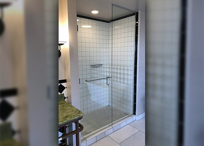 Candler Hotel glass shower project