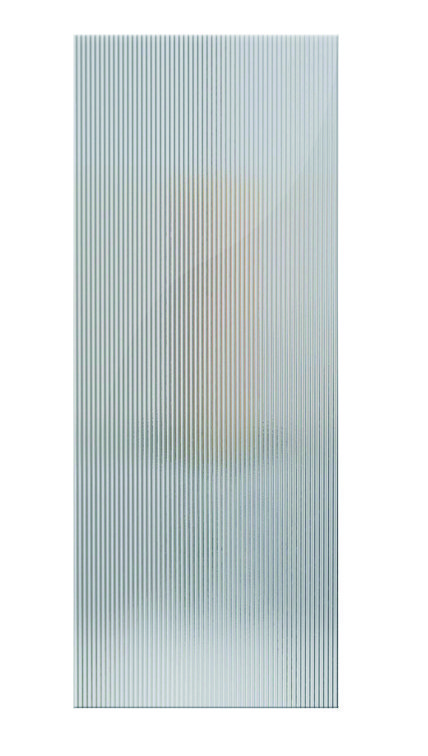 reed textured glass barn door