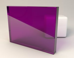 Rose Purple Laminated Glass Sample