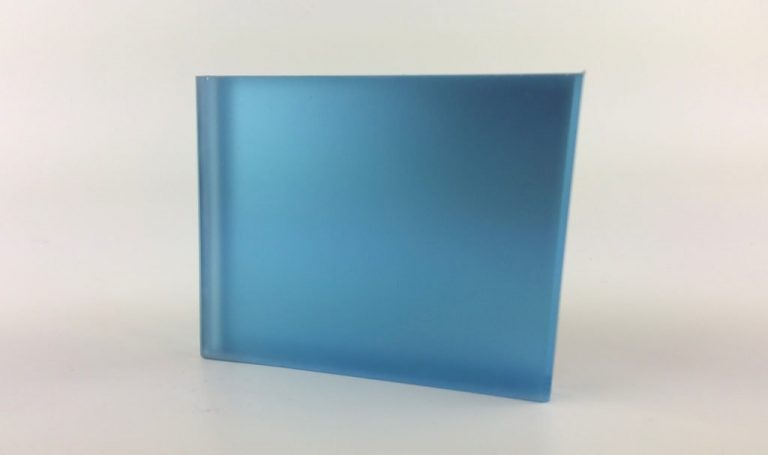 Satin Blue Satin Mirror Laminated Glass Pattern