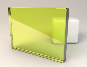 Spring Yellow Laminated Glass Sample