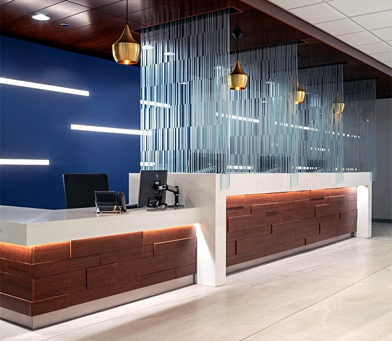 University of Chicago Medicine Custom Etched Glass Partitions
