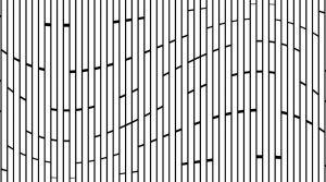 Vertical Blocks Wave Decorative Glass Pattern