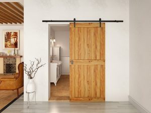wooden sliding barn door