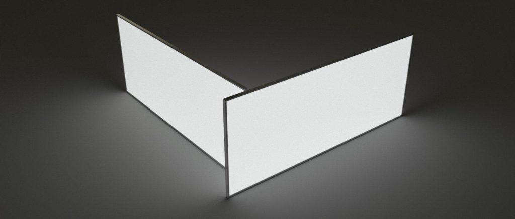 Illuminated White LumaWall Panels