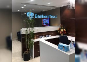Bankers Trust LED Edge Lit Glass Sign