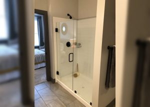 District Apartments Glass Shower