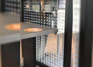 McDonalds Glass Partition