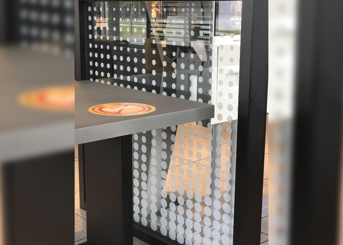 McDonalds Glass Partition