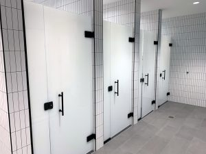 Glass Bathroom Stalls