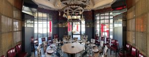 Dining Room at Uncle Jacks Meat House with Antique Mirror